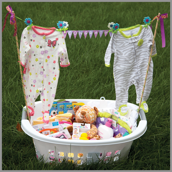 I Purchased Several Bedtime And Bath Time Related Baby Items One Of My Favorite Sterilite Laundry Baskets Loaded