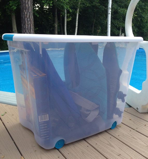 Sterilite pool safety storage